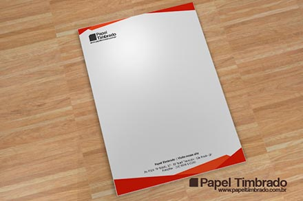 modelo de papel timbrado vermelho